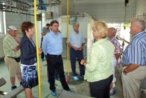 betriebsbesichtigung mit staatsminister frank kupfer 2011 im landschlachthof