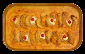 Manilapfanne - Schweinecarree, Pfirsich, Ananas