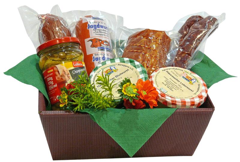 Präsentschachtel, individuelles Geschenk mit frischen, regionalen Produkten Ihrer Wahl