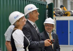 Übergabe des 150. Blockheizkraftwerkes d. Fa. Yados durch MP Stanislav Tillich