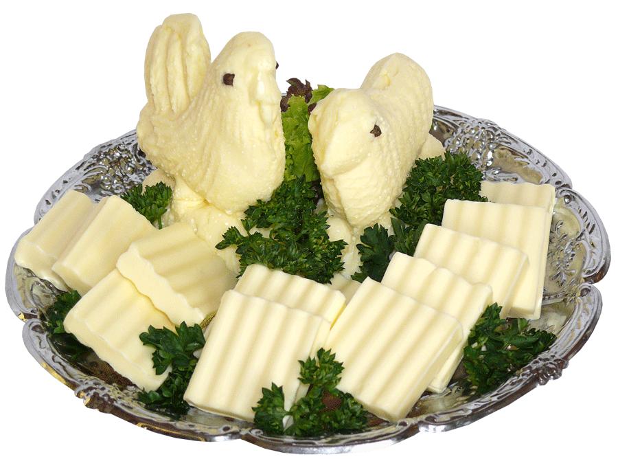Butter als Lamm oder Hahn dekoriert