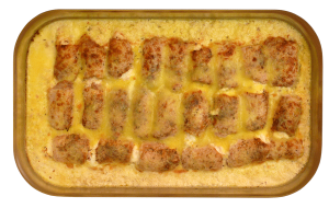 Fetaröllchen - Gefüllte Schweineröllchen mit Feta, überbacken mit Käse