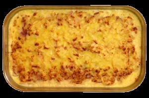 Hawaipfanne - Kasseler, Ananas und Gewürze, mit Käse überbacken