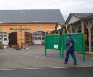 Obstscheune Krietschwitz mit neuem Schriftzug - Januar 2013