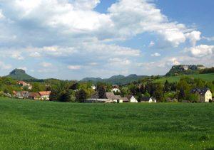 Lilienstein und Festung Königstein
